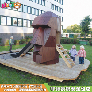 Outdoor landscape sculpture Large-scale art head combination slide Non-standard ride facilities custom manufacturer