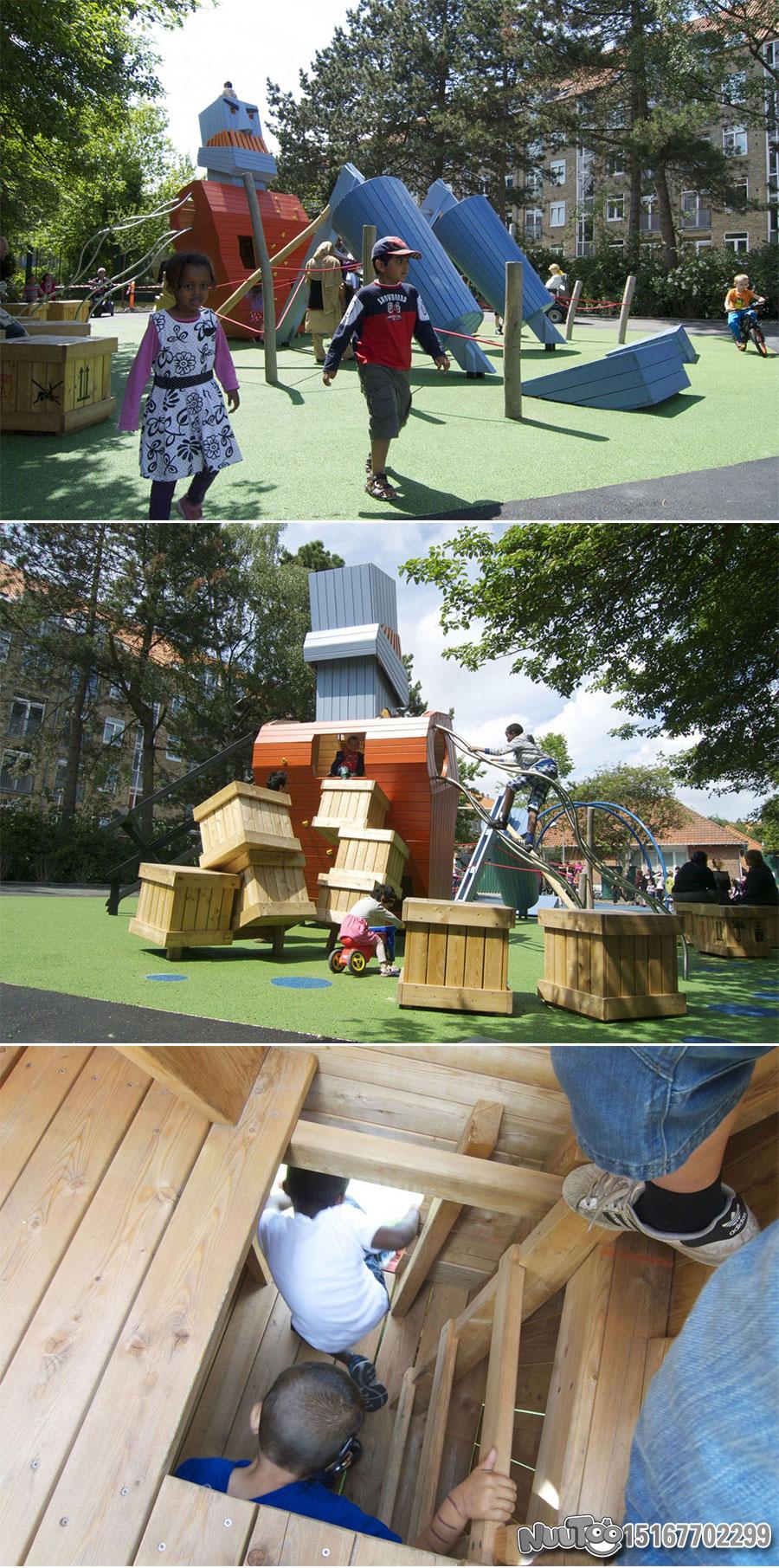 Non-standard amusement + personalized playground + amusement equipment + rides + outdoor children's play facilities _14