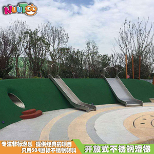304 stainless steel straight slide outdoor children's amusement park