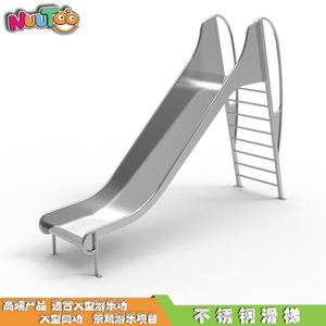 High-end durable stainless steel swimming pool on the slide