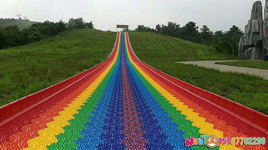 Colorful slides + colorful slides + dry snow slide + leap slide - (40)